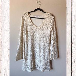 SOCIALITE Lace Bell Sleeve Dress